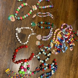 Handmade beaded necklaces with charms